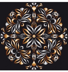 metallic bronze pattern vector image