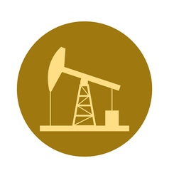 Oil derrick gold vector