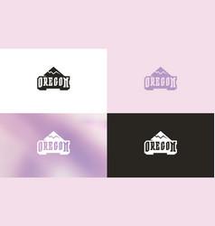 oregon typographic emblem vector image