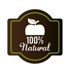 Organic natural food label vector image