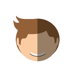 people face casual man icon image vector image