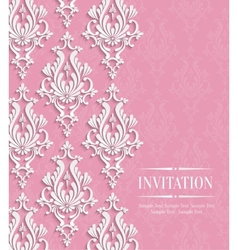 Pink 3d Vintage Background for Greeting or vector