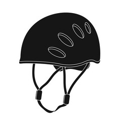 plastic helmet climbermountaineering single icon vector image