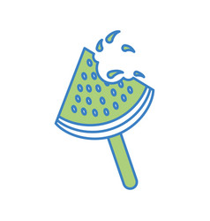 Popsicle ice watermelon icon vector