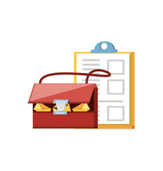 Post bag handle with clipboard vector