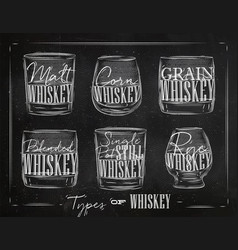 poster types whiskey vector image