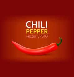 realistic red hot natural chili pepper vector image vector image