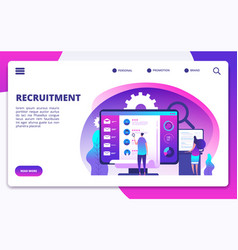 recruitment concept hire workers choice vector image