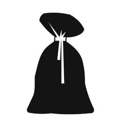 Santa claus bag simple icon vector image