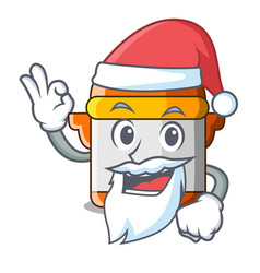 Santa electric pressure cooker isolated on mascot vector