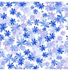 Seamless pattern from water color flowers vector image