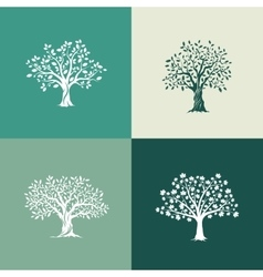 Set on green background vector