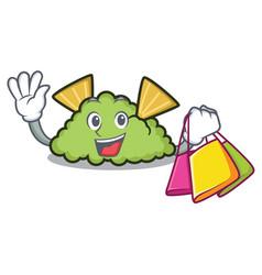 Shopping guacamole character cartoon style vector