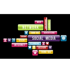 Social media internet cloud vector image