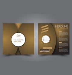 Square flyer template brochure design vector