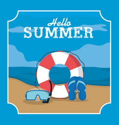 summer frame template vector image
