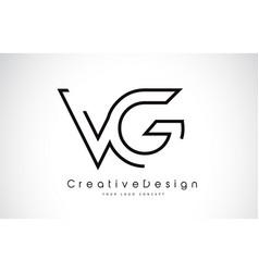 Vg v g letter logo design in black colors vector
