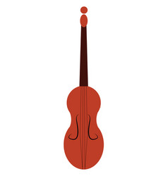 violin a string musical instrument or color vector image
