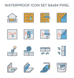 Waterproof water leak vector