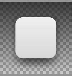 White blank app icon button template vector