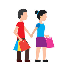woman shopping icon image vector image