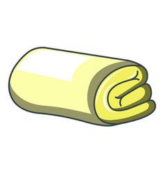 yellow folded towel icon cartoon style vector image
