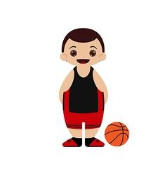 Cartoon basketball player vector