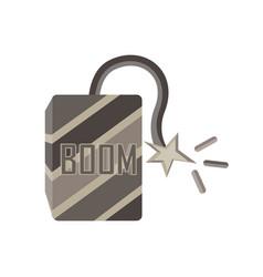 comic bomb explosion background retro design vector image