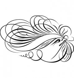 decorative script vector image vector image