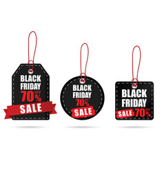 Tag with black friday on it color set vector