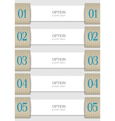 White design template vector image vector image