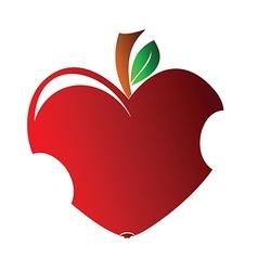 Bitten heart vector image