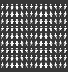 people pattern seamless background on black vector image vector image