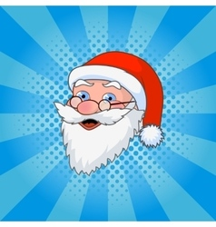 Santa Claus comic style design with jolly plump in vector image
