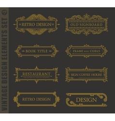Calligraphic design elements baroque set vector image vector image