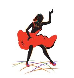 Dancing girl vector image