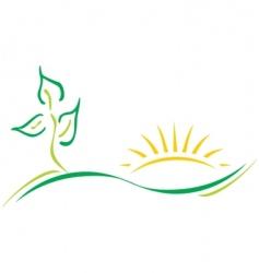 ecology logo vector image vector image