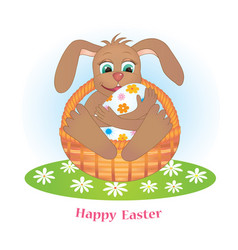 rabbit and egg vector image