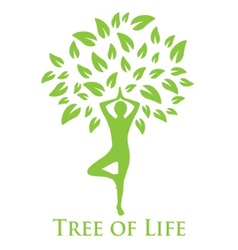 yoga and the tree of life vector image vector image