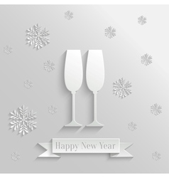 Abstract Background with Two Glasses of Champagne vector image vector image