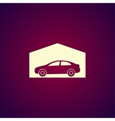 car garage Flat design style vector image