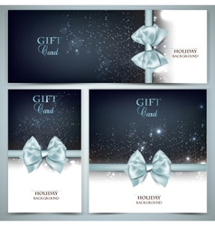 Holiday banners with ribbons background vector image vector image