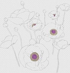 popies sketch vector image