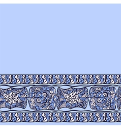 Seamless border abstract pattern blue vector