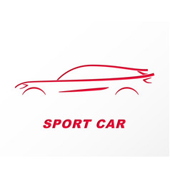 silhouette of a sports car carved on paper vector image