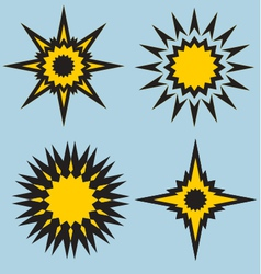 stars and sun signs vector image vector image