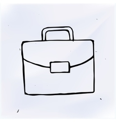 suitcase doodle drawing sketch vector image