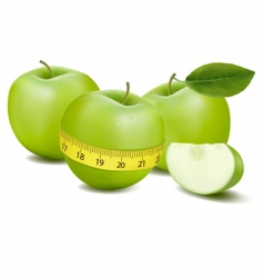 three apples and meter vector image vector image