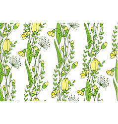 A seamless spring pattern consisting of flowers vector