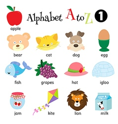 Alphabet A to Z 1 vector